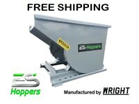 ES HOPPER Wright 1/2 Yard Self Dumping Hopper Forklift Dumpster FREE SHIPPING
