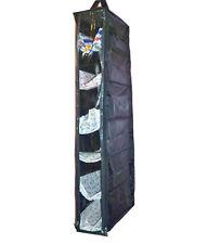 Black 6 Cabinet Shoe Sandal Footwear Rack Hanging Storage Covers Upto - 6 Pair