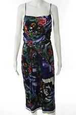 Alberta Ferretti Multi-Color Abstract Print Sheath Dress Size 8