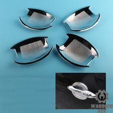 4Pcs Chrome Door Handle Cup Bowl Bezel Decor Fit HYUNDAI Sonata YF i45 2011-2014