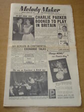 MELODY MAKER 1954 SEPTEMBER 4 CHARLIE PARKER IVY BENSON BRITISH JAZZ ECKSTINE +