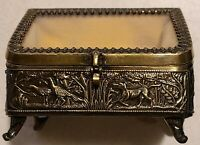 Vintage Jewelry Trinket Box American Cut Crystal Corp Beautiful Hand Made