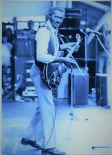 CHUCK BERRY PHOTO UNRELEASED 1982 HUGE 12INCHES VINTAGE UNIQUE IMAGE PHOTO TINT