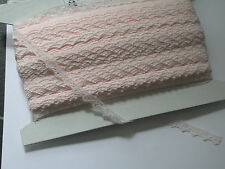 """Lace 1/2"""" Floral Pale Pink 100 Yards Closeout  Free US Ship"""