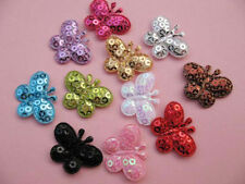 """55 Padded Sequin 1"""" Butterfly Applique/bow-11 Colors"""