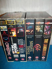 STEPHEN KING COLLECTION (2 x 3 VIDEO SETS) - CHRISTINE, CUJO, THE LANGOLIERS...