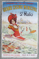 1900 Vintage Grand Casino Municiapal De St. Malo Travel Poster 11 x 17 Kayak