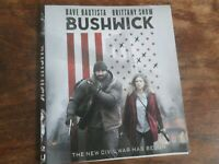Bushwick (Blu-Ray) Dave Bautista Brittany Snow 2016 Film, Disc and Sleeve