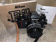 Nikon F3 Film Camera With Nikkor 50mm F1.4 Lens
