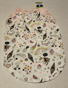 NWT Top Paw Unicorn Ice Cream Cone tshirt L Large pink white glitter For Dogs