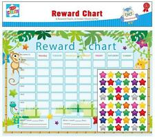Pack Of 6 Jungle Children Reward Behaviour Charts With Star Stickers & Pen CHAR