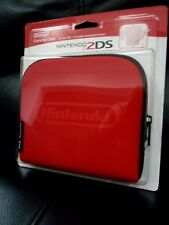 **New Sealed Official Nintendo 2DS Console Carrying Travel Case Red**