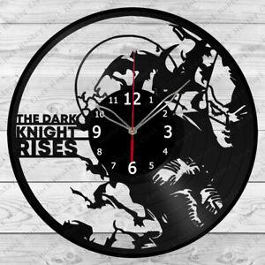 Vinyl Clock The Dark Knight Rises Record Wall Clock Home Art Decor Handmade 4922