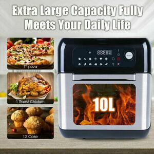 Pro 10L Digital Air Fryer Rapid Oil Free Healthy Low Fat Frying Chips 1500W XXL