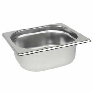 Stainless Steel 1/6 Size Gastronorm Pan Bain Marie Pot