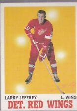 1970-71 TOPPS HOCKEY LARRY JEFFREY #28 RED WINGS EXMT *56948