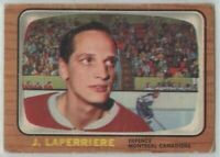 1966-67 Topps Hockey #67 Jacques Laperriere G-VG Condition (2020-03)