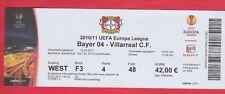 ORIG. ticket Europa League 2010/11 bayer 04 leverkusen-Villarreal CF 1/8 F