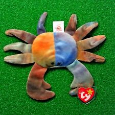 RARE Claude The Crab 1996 Retired Ty Beanie Baby MWMT Canadian Customs PVC Tush