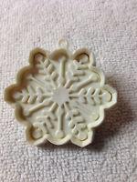 Hallmark White Snowflake Plastic Cookie Cutter vintage