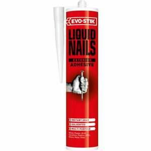 Evo Stik Liquid Nails Solvent (Interior & Exterior) Instant Grab Adhesive 295ml
