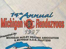 1997 HOG Michigan Rendezvous Bandana Harley-Davidson Motorcycles Chopper Hawg