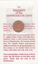 1861 Restrike Of The Confederate Cent.Copy Only