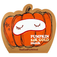 K-Beauty Too Cool for School Skin Care Pumpkin 24K Gold Mask Sheet Pack 2 PCS