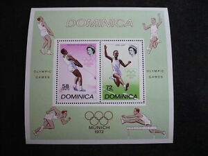 Stamps - Dominica - Scott# 344a - Souvenir Sheet of 2 Stamps
