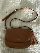 Brown Kate Spade New York Womens Leather Crossbody Bag Genuine