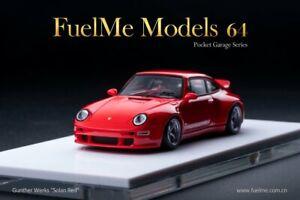 Porsche 911 (993) Gunther Werks Solan Red,Scale 1:64 by Fuel me