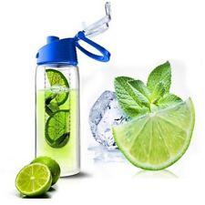 Trinkflasche mit Fruchteinsatz blau 2er Set Wasserflasche Sportflasche Behälter