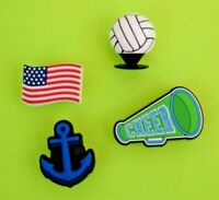 Crocs Jibbitz Charms *3-D Volleyball-Anchor-Flag-Megaphone **ALL 4 for $8.99 NEW