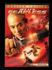 Fearless (DVD, 2006, Unrated and Theatrical Editions, Widescreen) Jet Li