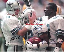 Troy Aikman, Emmit Smith, Michael Irvin (Cowboys) 8 x10 Reprint