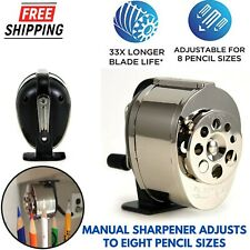 Heavy Duty Pencil Sharpener With 8 Size Dial Wall Mount Manual Sharp Sharpening