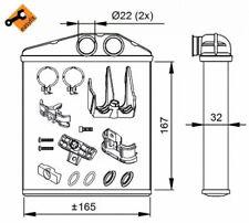 Heat Exchanger, interior heating NRF 54208