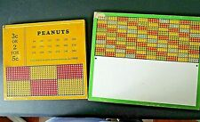 Lot of 2 Vintage Early 20th Century Peanut Punch Boards Bar Game Boards