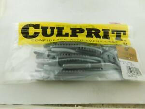 "Culprit Worm 7.5/"" Black// Blue Tail Bait NIP Pack of 13"