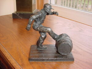 "Very Rare ~ Harry Weber ~ ""Jack Daniels Distillery Worker"" Bronze ""Foot Work"""
