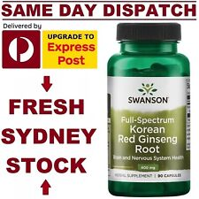 Korean Red Ginseng Root PREMIUM BRAND 90 Capsules COMBAT STRESS FAST SHIPPING!