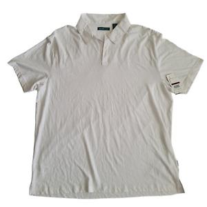 Cubavera | Men's No-Button Polo Shirt Bright White | XXL
