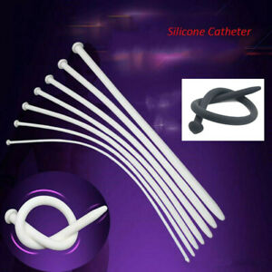 Super long Soft Silicone Plug Tube Catheter Sounds Men Chastity Urethral Dilator