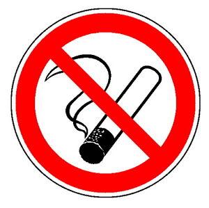 Rauchen verboten-Schild-Rauchverbot-v.30 - 600 mm Ø-Folie-Alu-Kunststoff-Hinweis