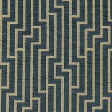 Robert Allen Geometric Chenille Upholstery Fabric Ritzy Blue Opal 4 yd 234005