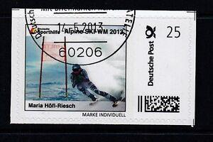 D. Briefmarke Individuell   Alpine Ski WM  Maria Höfl Riesch  oo
