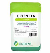 Té Verde; 1000mg; Calidad Extracto Estandarizado (dieta) 100 Tabletas (UK)