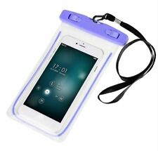 Waterproof Underwater Case Dry Pouch for Mobile Phone Glow - PURPLE