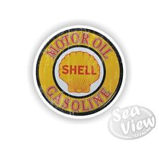Retro Motor Oil Shell Gas Fuel Car Van Stickers Decal Funny Sticker