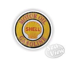 Retro Motor Oil Shell Gas Fuel Car Van Stickers Decal Funny Sticker